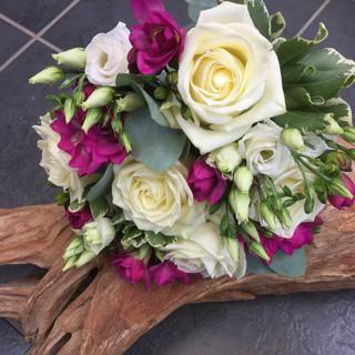 Bridal bouquet - pinks & white