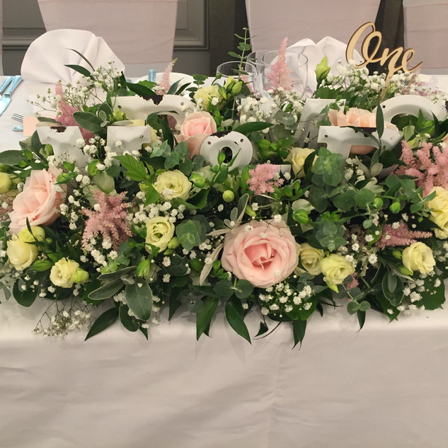 Top table - soft pinks