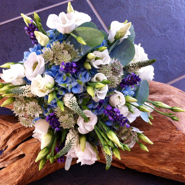 Bridal Bouquet - Blue & whites