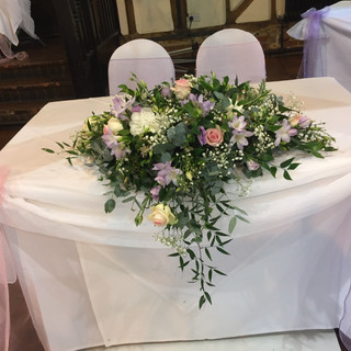 Top table - Pastel colours