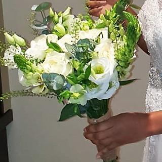 Bridal Bouquet - whites & green