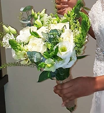 Bridal Bouquet - whites & green