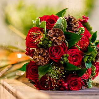 Winter red Rose Bridal Bouquet