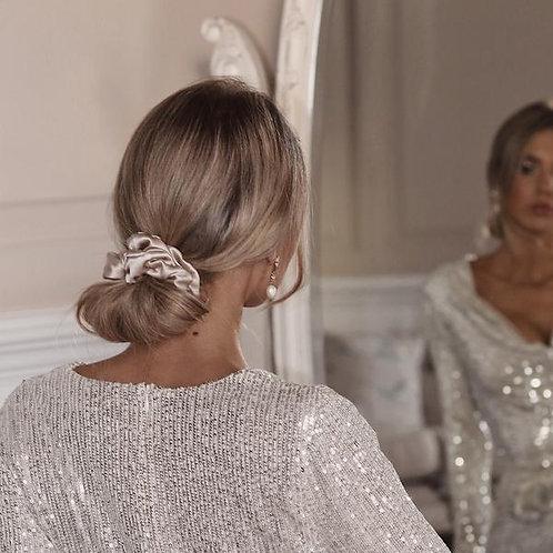Luxe Silk Hair Scrunchie - Champagne