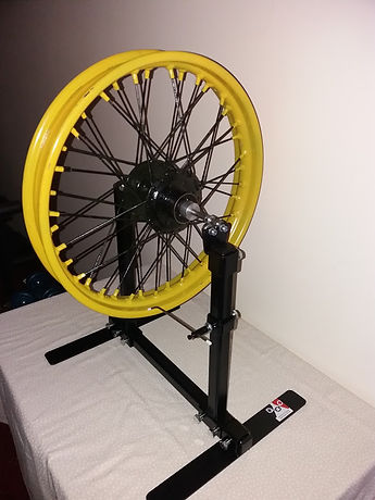 Motorcycle wheel truing stand