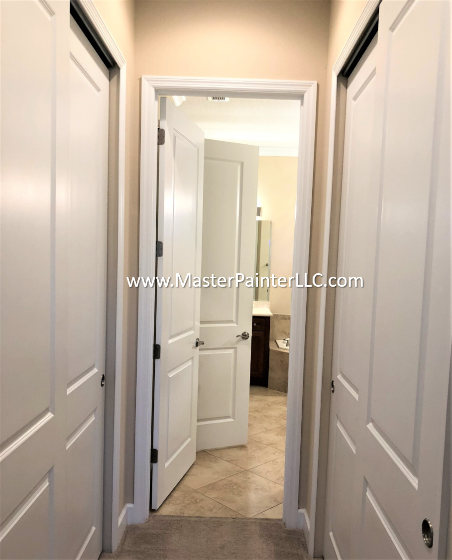 Hallway walls, doors and trim