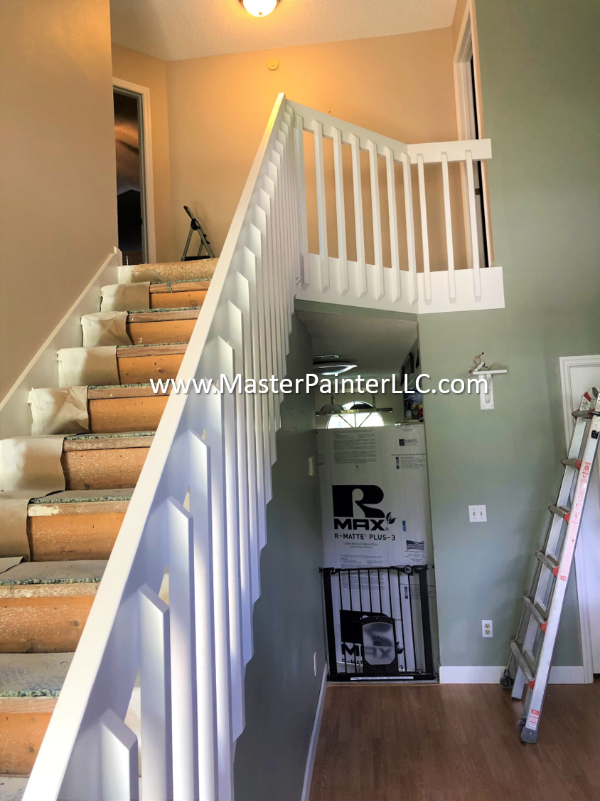 Stair rail and walls