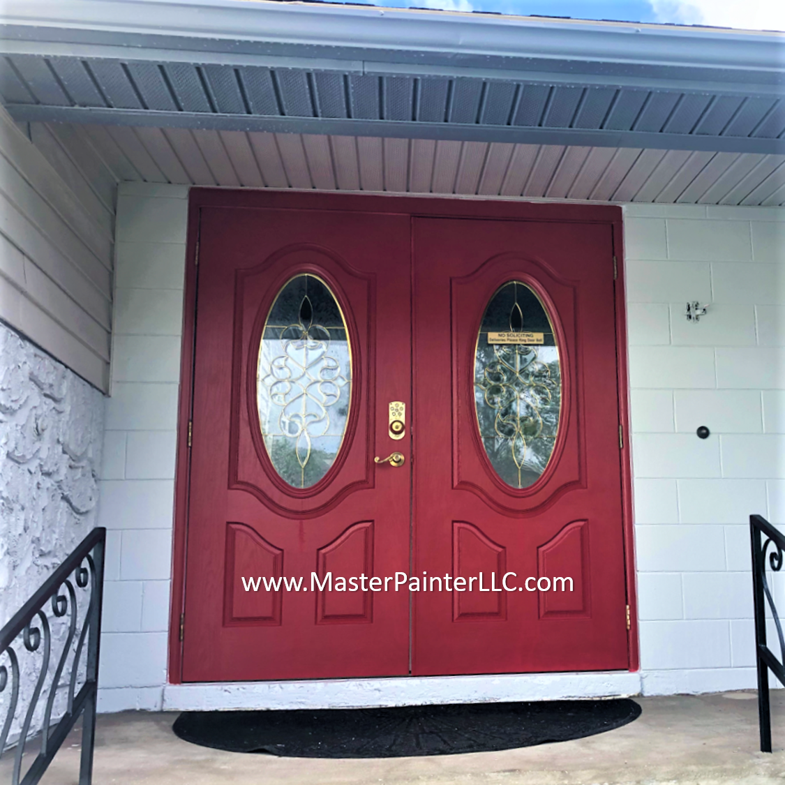 Front door repainted