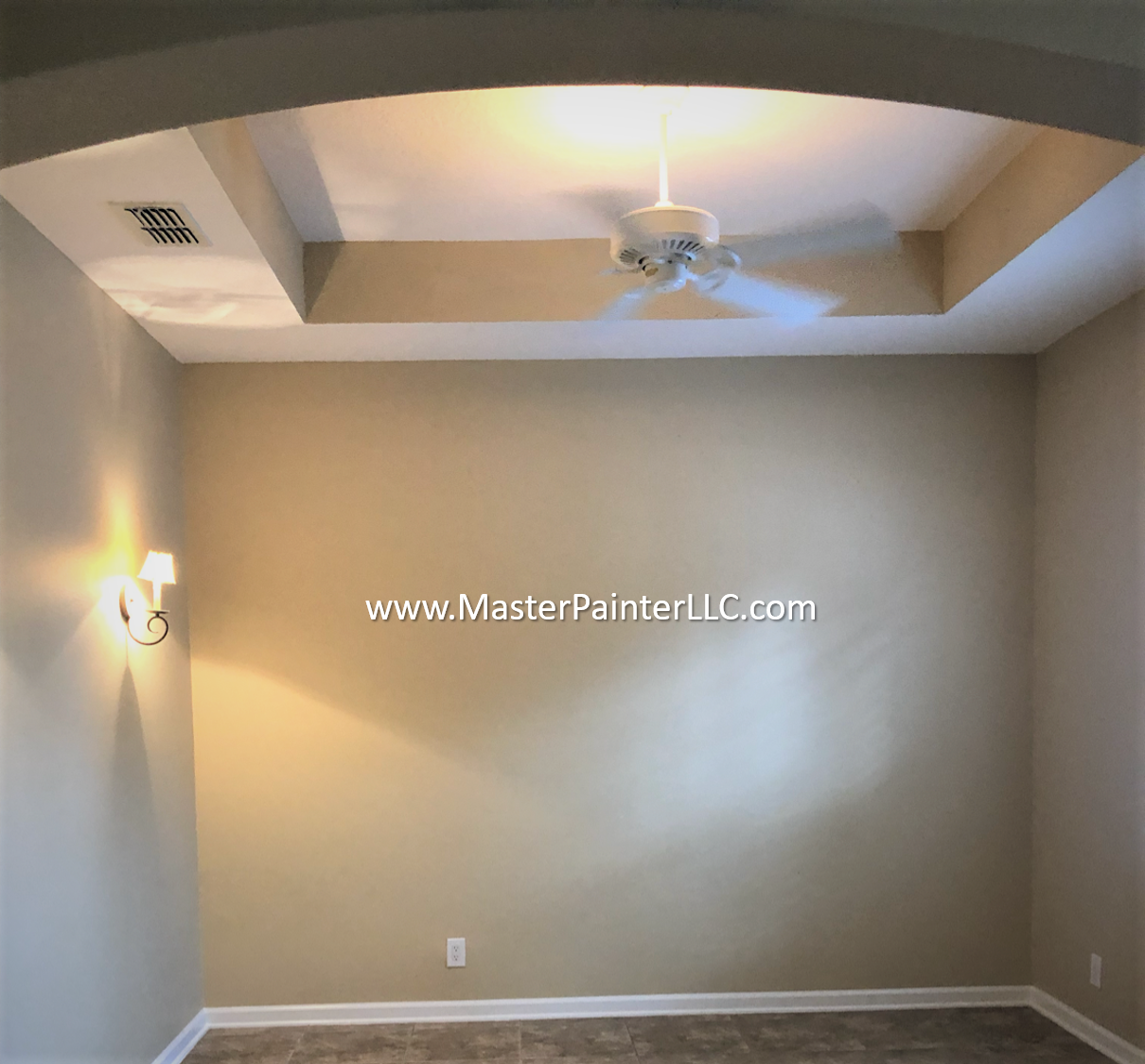 Master Bedroom walls and trim