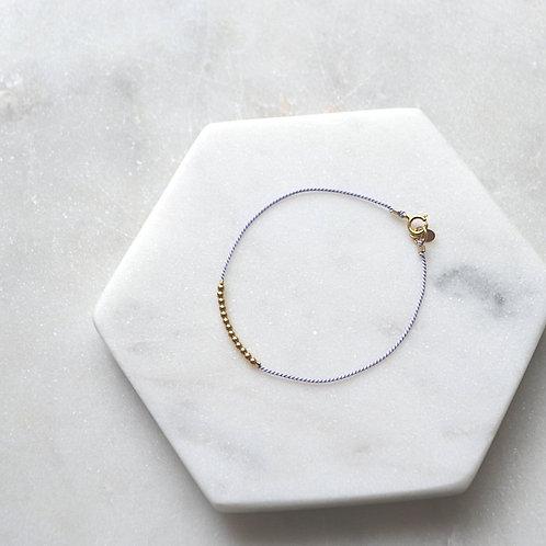 Sylvie lilac cord bracelet
