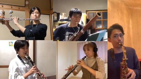 木管室内楽オンライン授業の様子