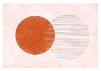 Twin Moons   Minimal Art Print
