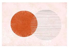 Twin Moons | Minimal Art Print