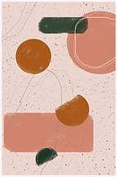 Dancing Shapes   Minimal Art Print