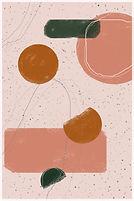 Dancing Shapes | Minimal Art Print