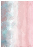 Pink Sand   Watercolour Series   Minimal Art Print