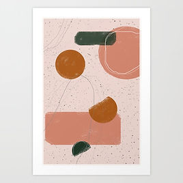 Dancing Shapes | Minimal Art Print