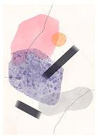 Cracked   Line & Shape Study   Minimal Art Print