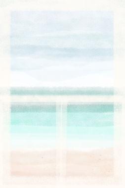 Window III | Watercolour Series | Minimal Art Print