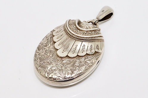A Fantastic Antique Victorian C1881 Sterling Silver 925 Large Locket