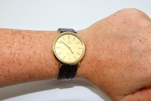 A Nice Vintage 1970's Gent's Gold Plated Omega De Ville Manual Wind Wristwatch