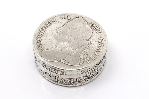 A Very Nice Quality Antique William & Mary George II Solid Silver Coin Pill Box