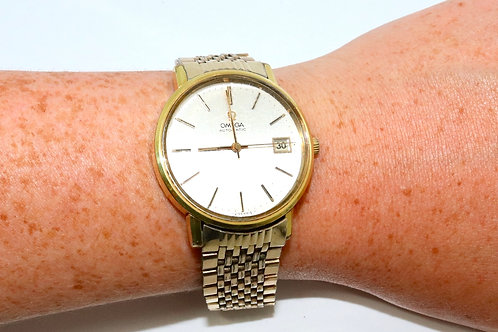 A Nice Vintage C1970 Gent's Gold Plated Omega Automatic Wristwatch 1010 Cal
