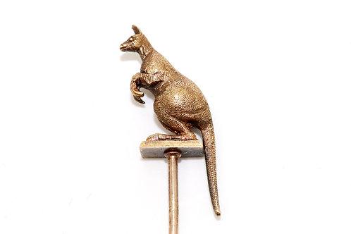 A Beautiful Antique Victorian 15ct 625 Yellow Gold Kangaroo Stickpin