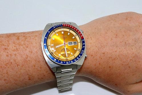 A Superb Vintage 1970's 6139-6002 Seiko Pogue Pepsi Chronograph Auto Wristwatch