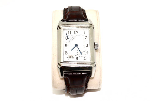 A Fantastic Men's Jaeger-LeCoultre Reverso Grande Date Manual Wind Wristwatch
