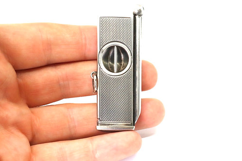 A Nice Quality Heavy Vintage C1965 925 Sterling Silver Cigar Cutter & Punch