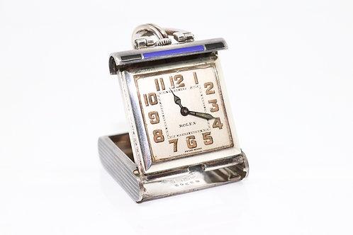 A Splendid Antique Art Deco C1928 Sterling Silver 925 Enamelled Rolex Purse Watc