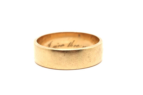A Stunning Early Victorian 18ct 750 Yellow Gold Inscribed Posy Ring #16273