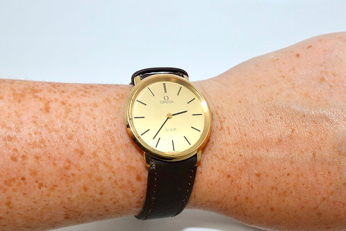 A Nice Vintage 1970's Gent's Gold Plated Omega De Ville Manual Wind Wristwatch