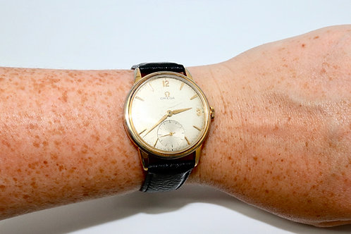 A Very Nice Vintage 1960's Gent's Gold Plated Omega Manual Wind Wristwatch