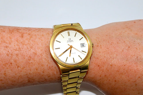A Nice Vintage C1970 Gent's Gold Plated Omega Automatic Wristwatch 1012 Cal