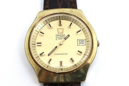 A Vintage Gents Omega Electronic F300 HZ Chronometer Wristwatch