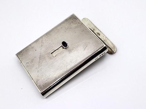 A Superb Unusual Art Deco C1927 Cohen Sliding Solid Silver Cigarette Case #23046