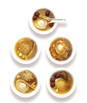 Kansom Abalone Soup with Herbs Range