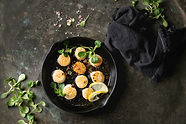 Lemon Butter Scallops with Scallop Sea S