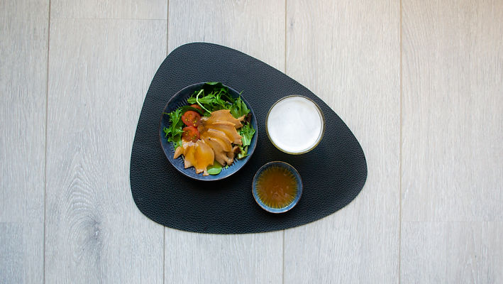 Kansom Brand Canned Abalone in Seasoning Plate