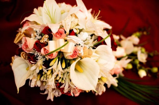 Roses, Lilies, Agapanthas & Pearls