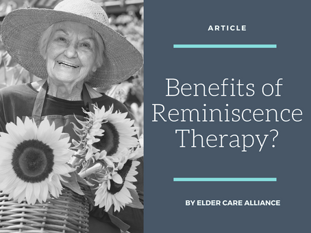 Benefits of Reminiscence Therapy