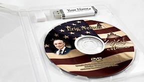 USB DVD for Tribute Videos