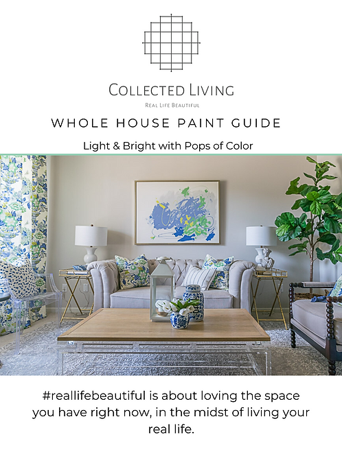 Paint Guide: Light & Bright with Pops of Color