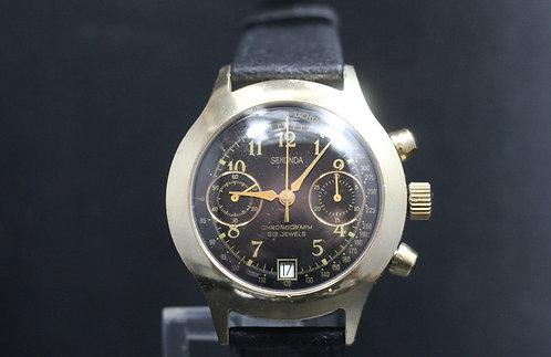 Gents  9ct. Gold Plated Sekonda Chronograph (Poljot 3133 Movement)