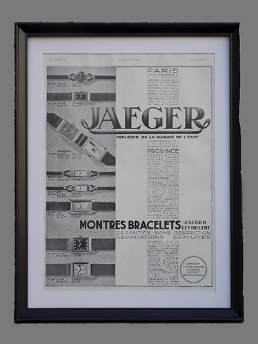"Vintage Original ""Jaeger-LeCoultre"" Advertising"
