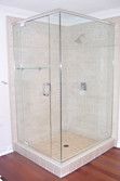 Semi-Frameless Corner Glass Shower Enclosure - Noble Shower Doors