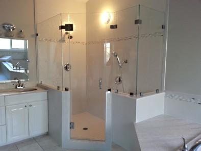 Awesome Multi-Panel, Multi-Angled Frameless Glass Shower - Noble Shower Doors