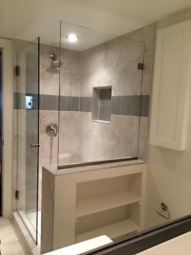 Frameless Glass Door & Spray Panel - Noble Shower Doors